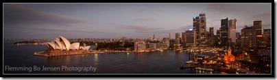 Sydney at dusk. Flemming Bo Jensen Photography