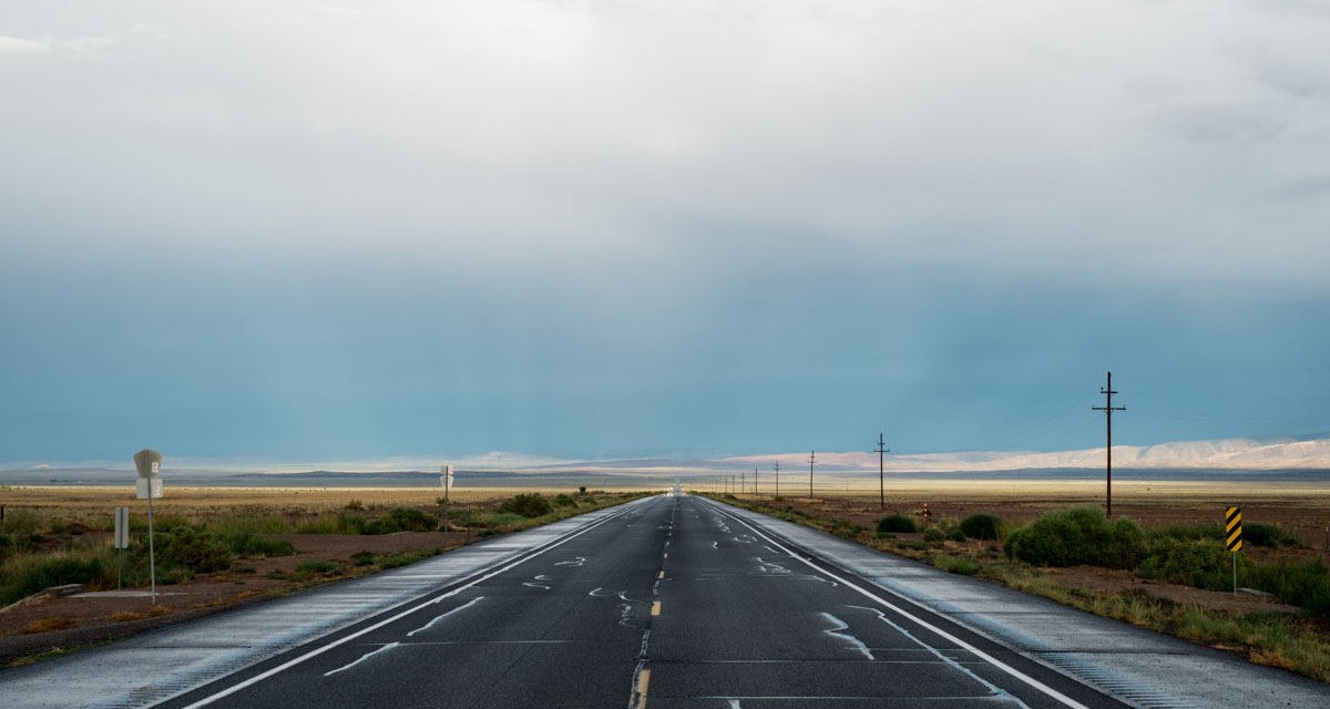 The open road of New Mexico.