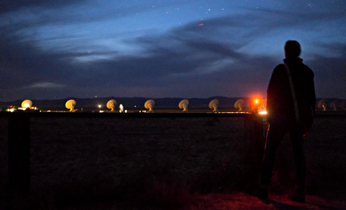 Dreaming of the Universe at Very Large Array on my birthday. Image by Charlene Winfred.
