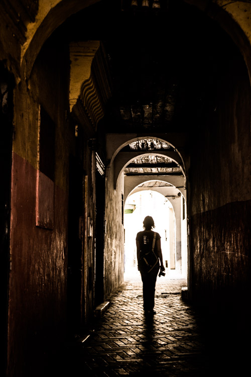 Charlene in the medina of Tangier