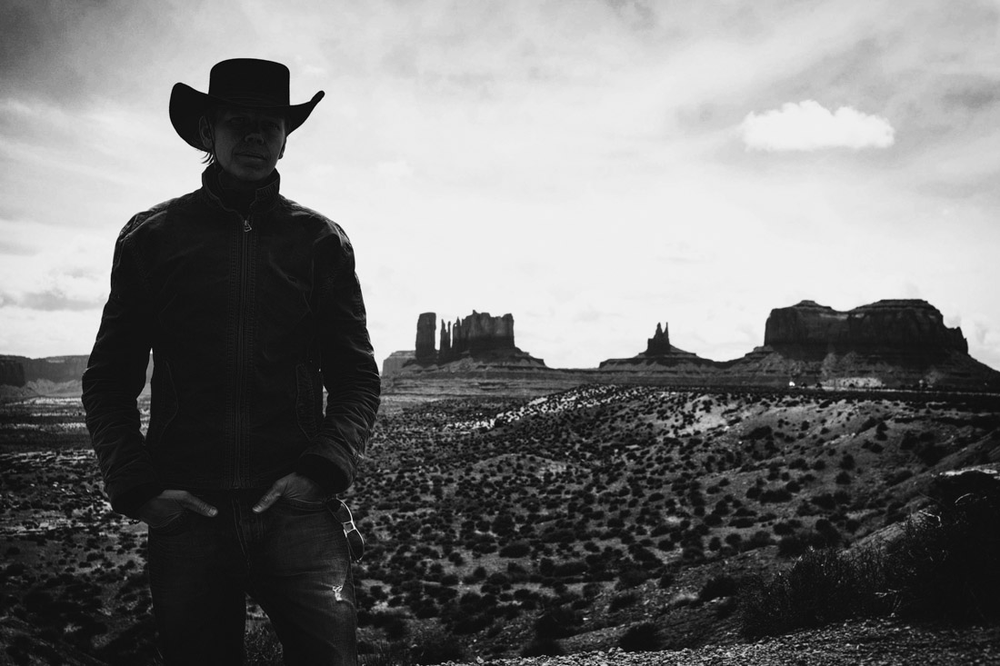 I AM a cowboy at Monument Valley. Image by Charlene Winfred.