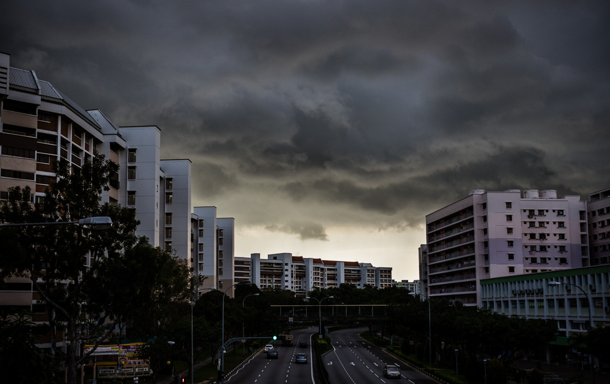 A tropical storm is about to eat Tampines Avenue 2