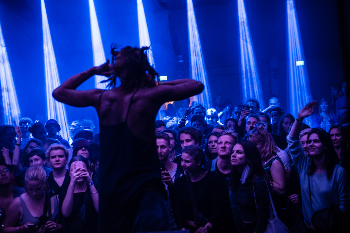 Mykki Blanco beamed in late at night