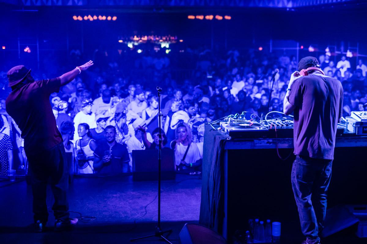DJ Rafik and the MC of the night, legendary Lord Finesse