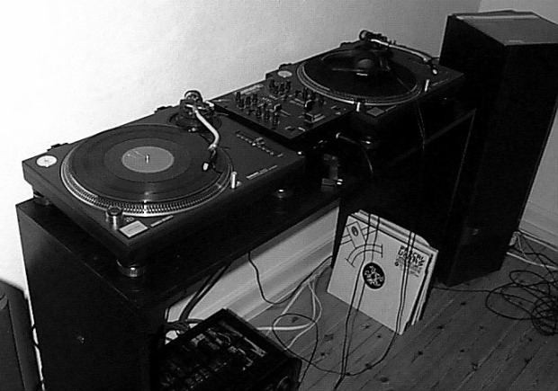My DJ setup in my flat around the year 2000