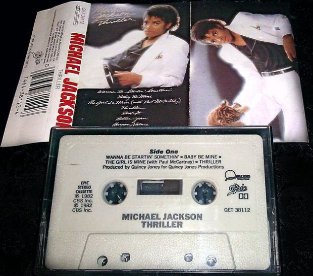 michael jackson thriller tape