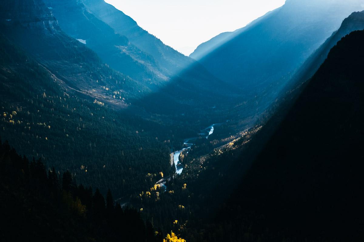 Enjoying some spectacular mountain light.