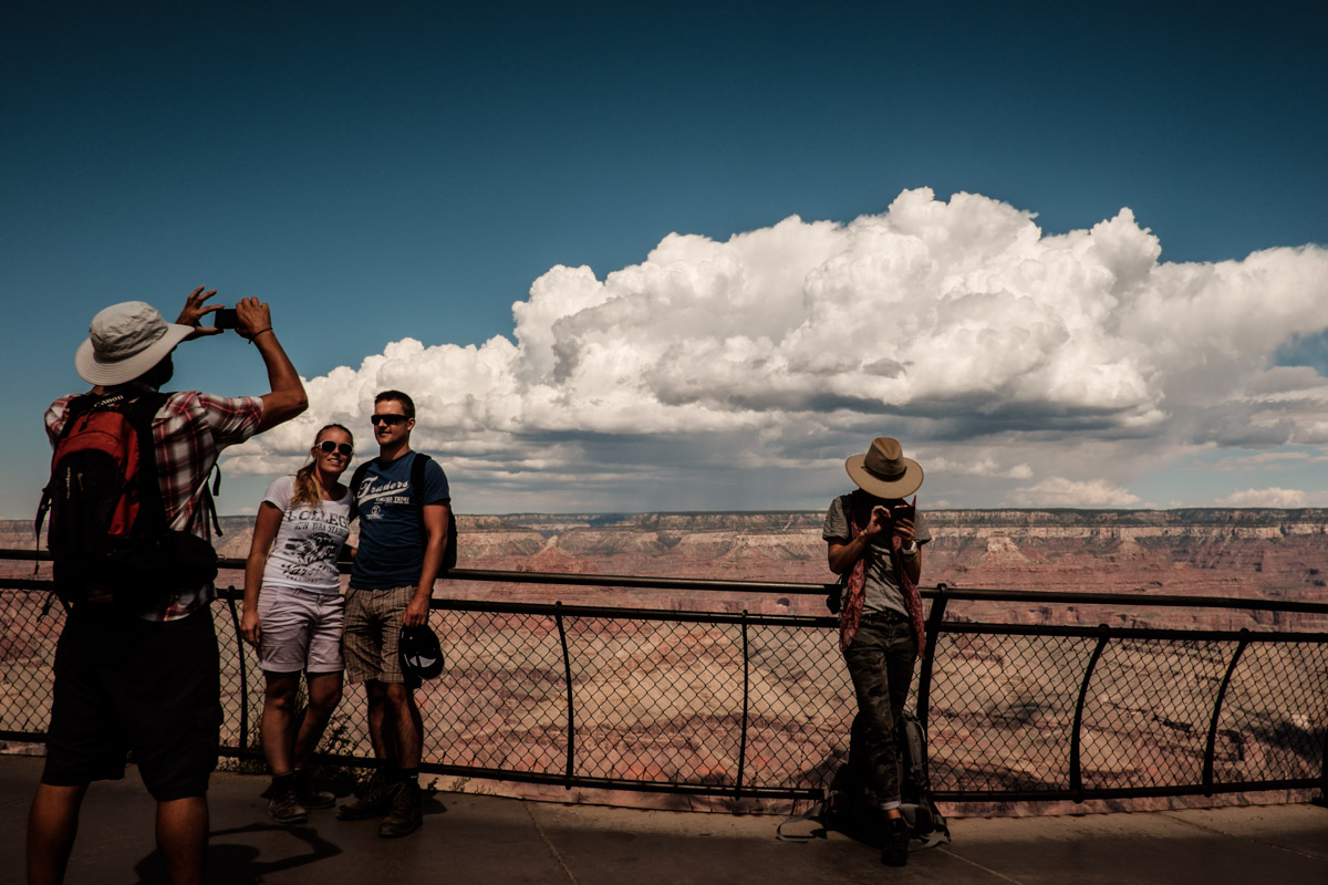 Don't you want to see the Grand Canyon? Hint: It's behind you.