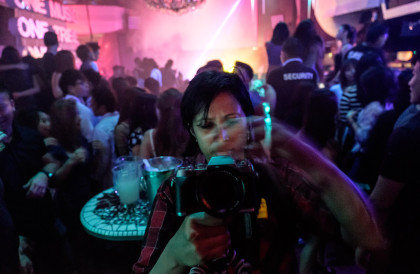 Charlene working faster than the camera can capture at Zouk Singapore nightclub.