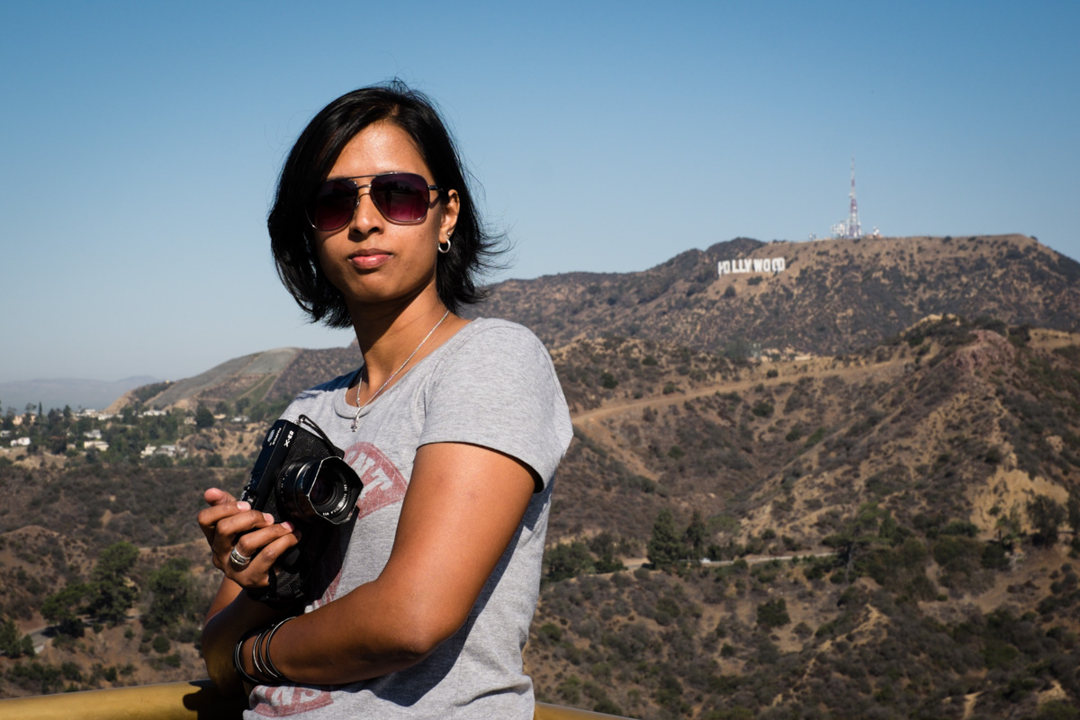 The most beautiful thing to hit Hollywood. Charlene rocks the Hollywood style complete with Fujfilm X-E2 and jetlag.