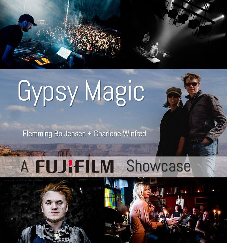The flyer for our Gypsy Magic Fujifilm showcase show!