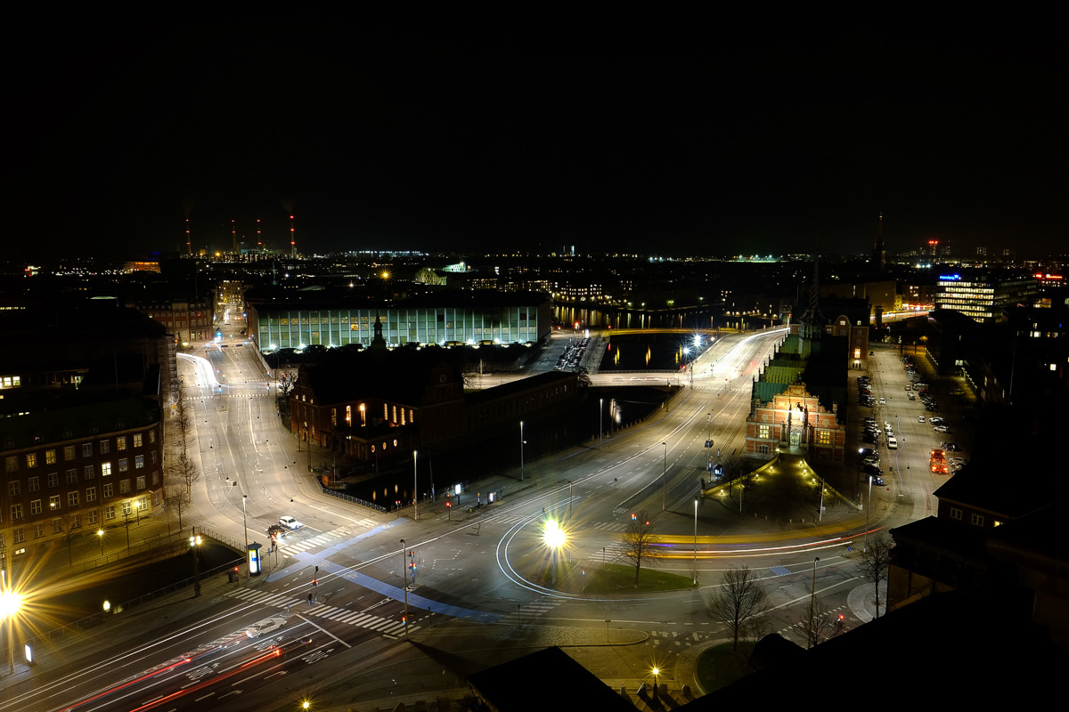 Copenhagen at night. 16mm lens, 17 sec at F11.0