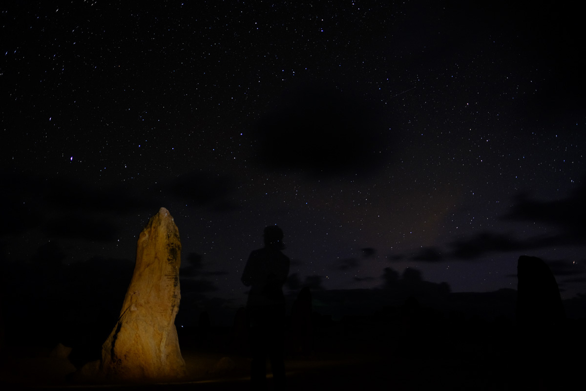 Charlene at Nambung National Park, Australia. Fujifilm X-T1, Fujinon 16mm lens, 20sec at F1.4, iso400 - in camera JPEG