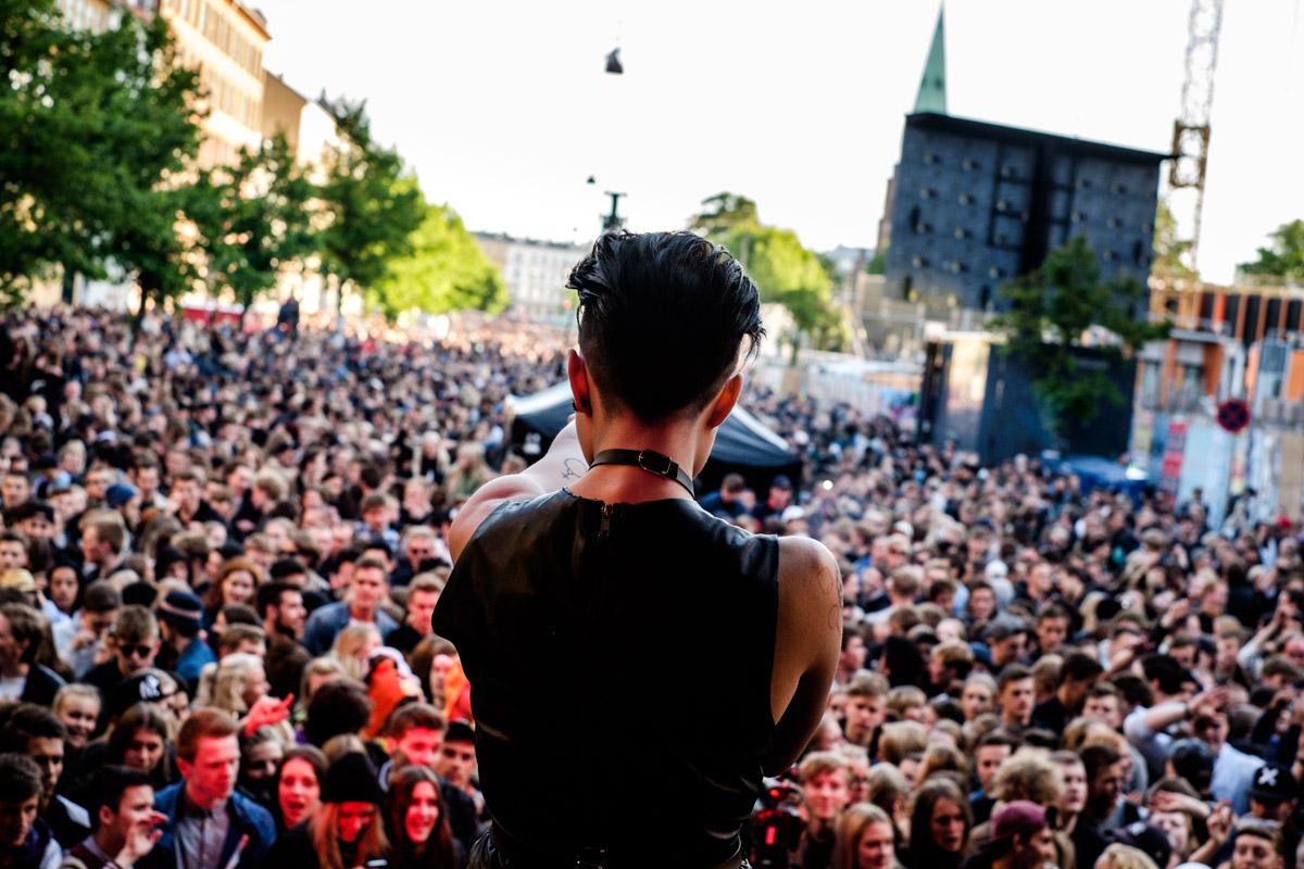 Mendoza performs at Red Bull Studios live Gadekryds at Distortion in Copenhagen, Denmark on June 3rd, 2015