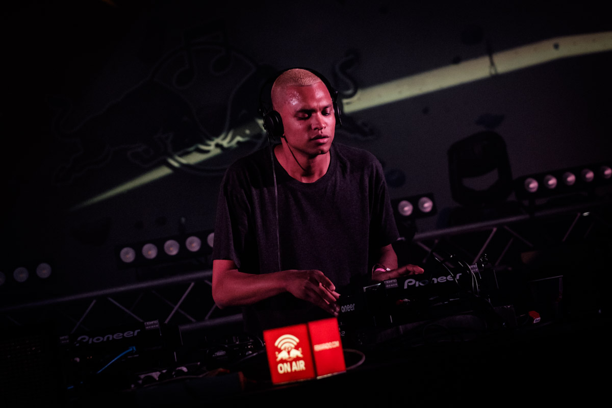Bambounou performs at Red Bull Music Academy stage at Distortion festival in Copenhagen, Denmark on June 6th, 2015