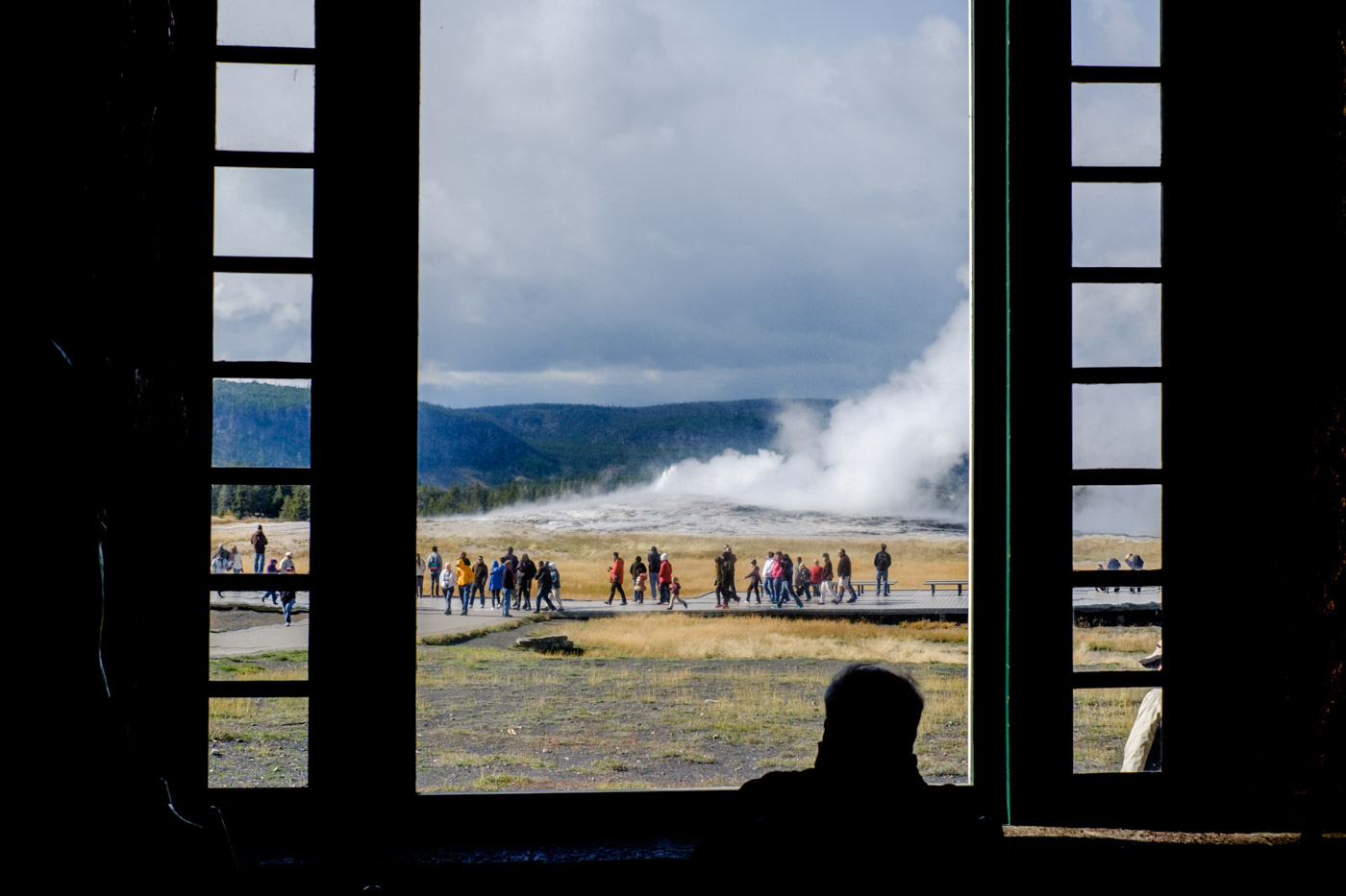 Old Faithful. Homage to Charlene, who took a much better version of this shot.