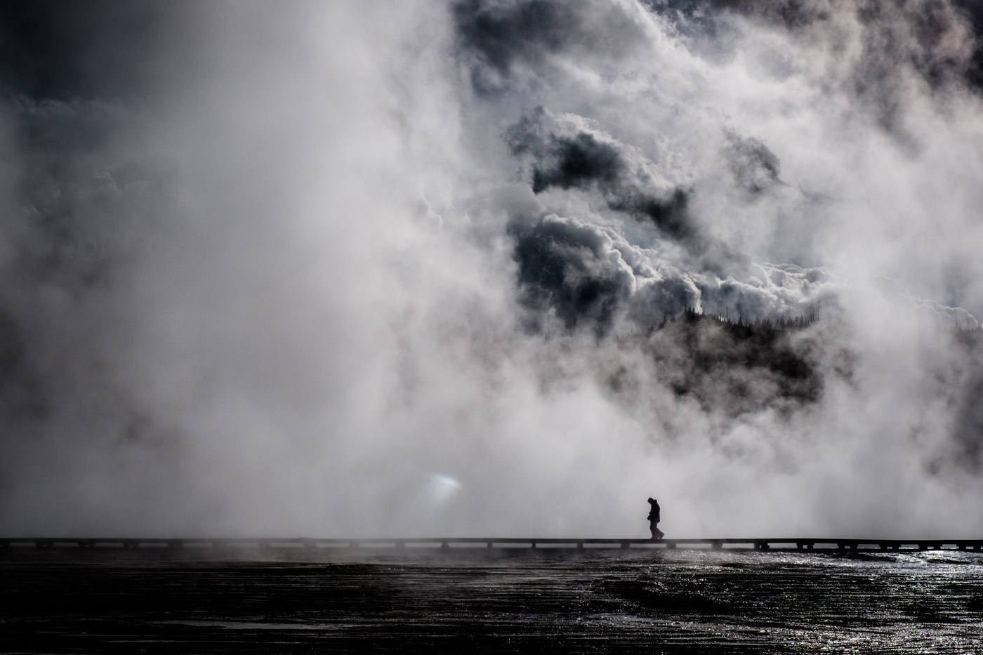 The world ended at Midway geyser basin, Yellowstone. Fujifilm X-T1, 35mm