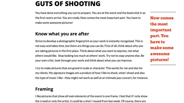 guts of shooting