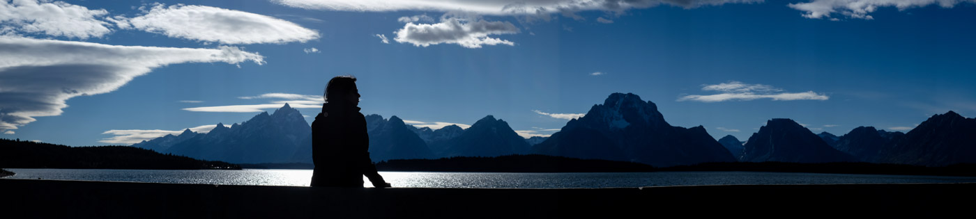 Grand Teton National Park. Fujifilm X-T1, 35mm lens, in-camera panorama (which did not quite blend perfectly in the sky)
