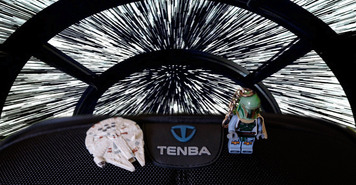 Boba Fett has stolen the Falcon and gone to point 5 past lightspeed (The Tenba bag can withstand sumo wrestlers and hyperspace!)