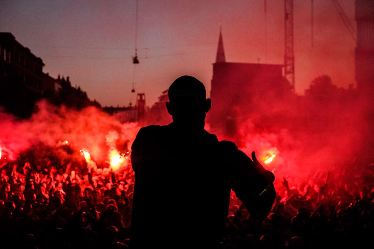 Suspekt on Red Bull Studios live stage, Distortion in Copenhagen, Denmark