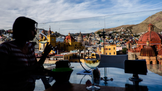 The Magic One the love of my life, Guanajuato and white wine. Does not get much better!