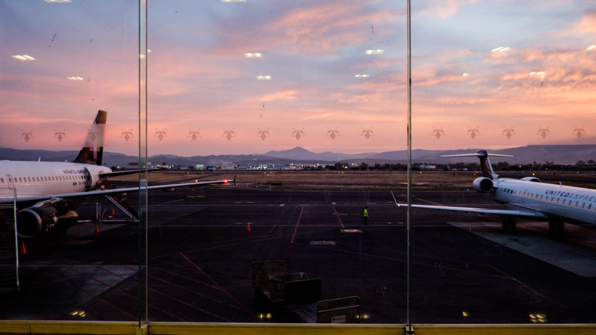 Sunrise at the airport in Guanajuato on my actual birthday