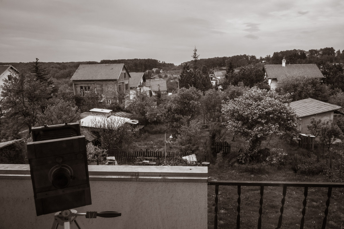 A view from the balcony outside Darko's lab. It was really wonderful to spend a day in the countryside.