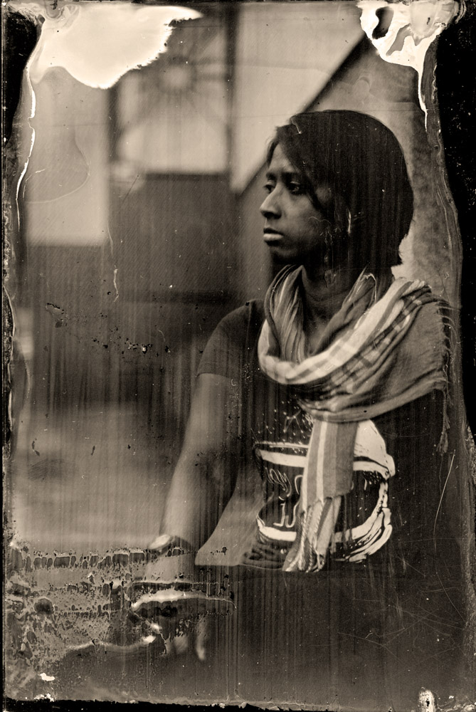 My 2nd wet plate shot. 20 second exposure.