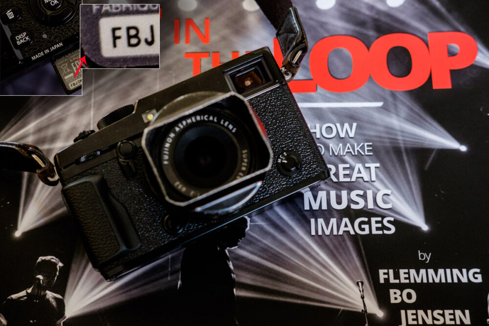 My personal Fujifilm X-Pro2 - on top of a limited edition print version of Get In The Loop!