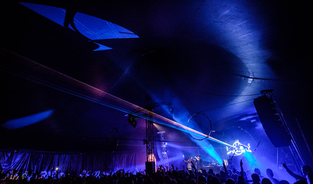 Yung Lean at Red Bull Music Academy Stage at Distortion in Copenhagen - shot with the Samyang 12mm lens, the 98 degree field of view meant I could capture an epic view of the inside of the tent.