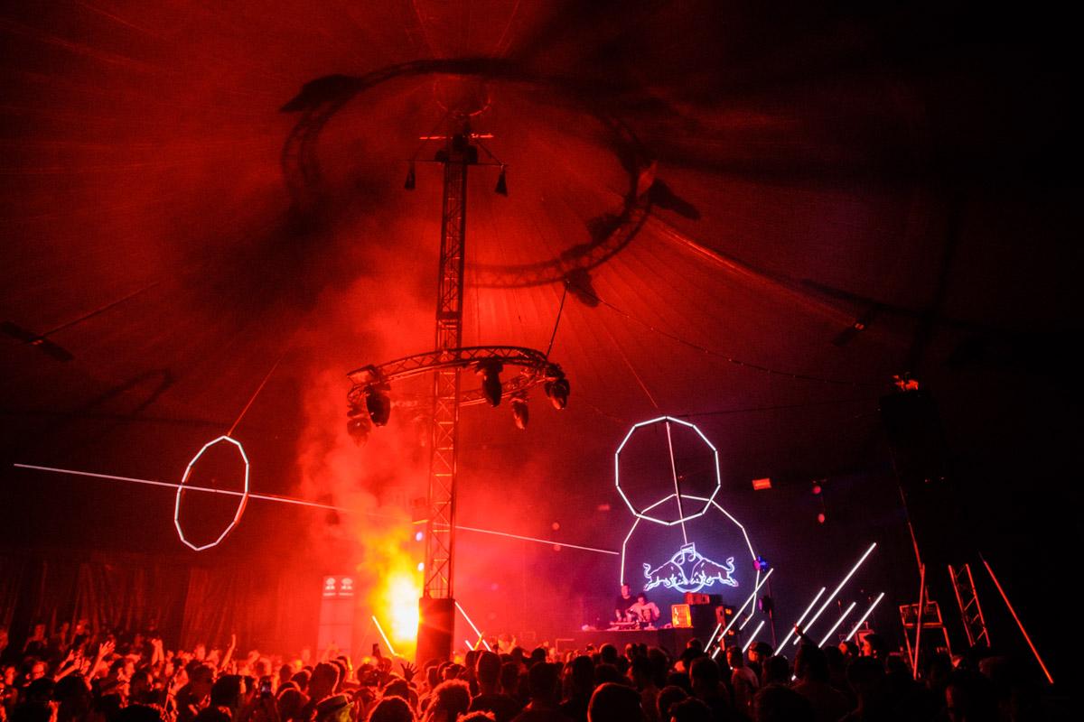 Eloq B2B DJ Er Du Dum Eller Hvad performs at Red Bull Music Academy Stage at Distortion in Copenhagen, Denmark on June 3rd, 2016
