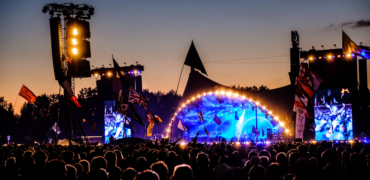 The famous Orange Stage at Roskilde Festival