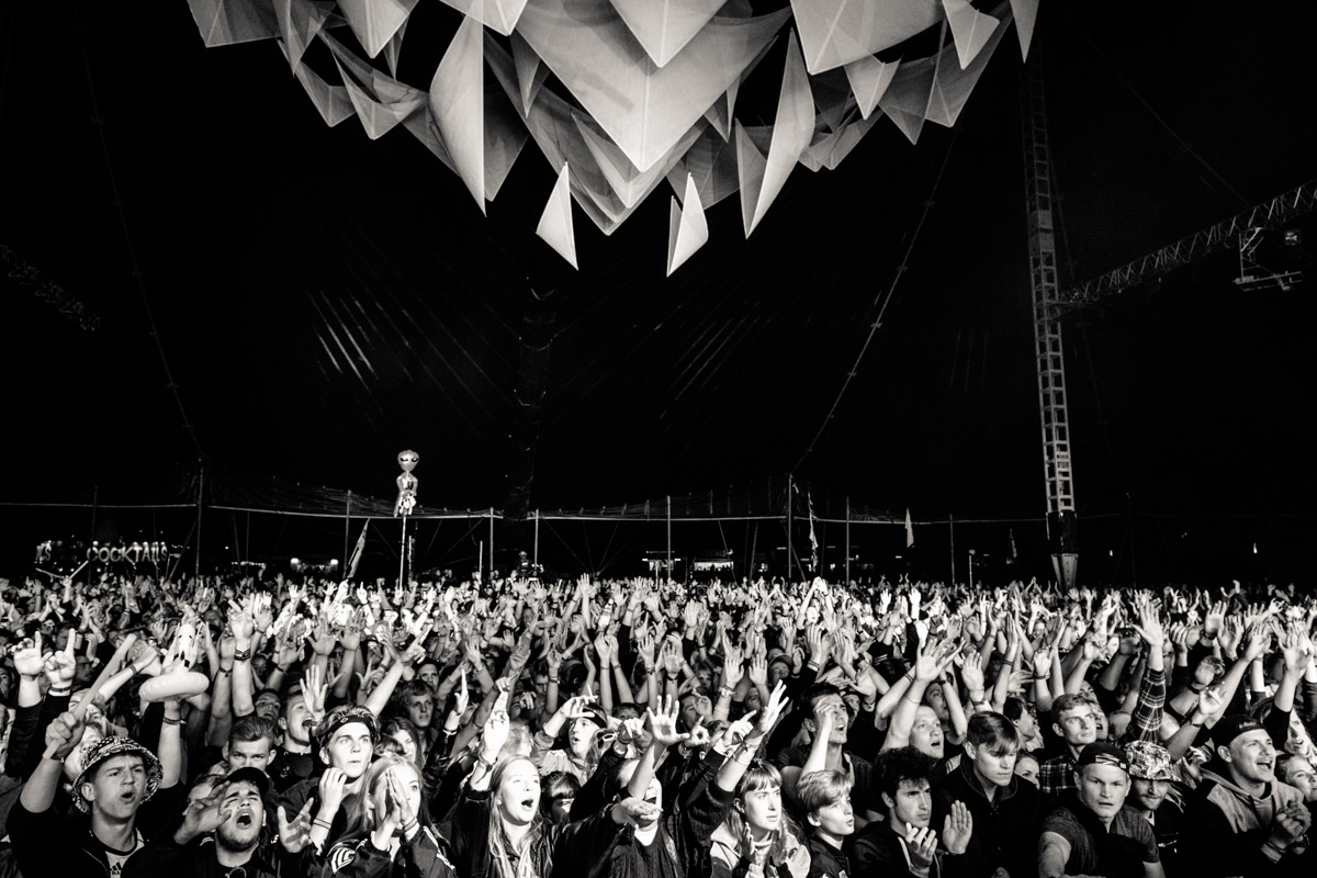 Spectators performs at Arena Stage at Roskilde Festival in Roskilde, Denmark on July 2nd, 2016