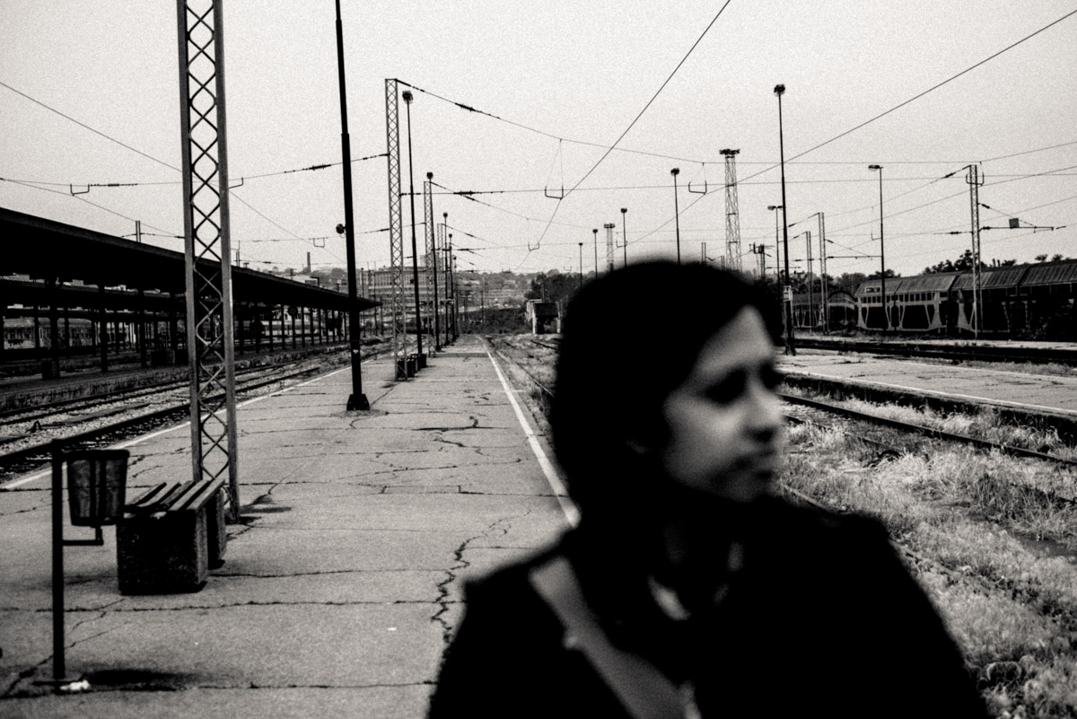 A #SorryAnton portrait of Charlene at the Beograd train station