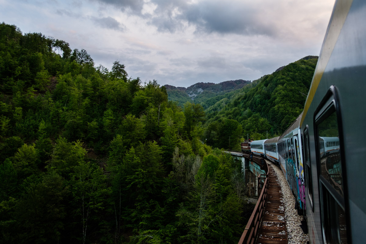 We took a 12 hour train ride to Montenegro one weekend, a classic and most spectacular (and somewhat long!) train journey through the mountains.